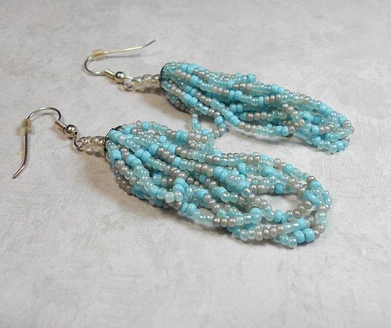how to make seed bead tassel earrings