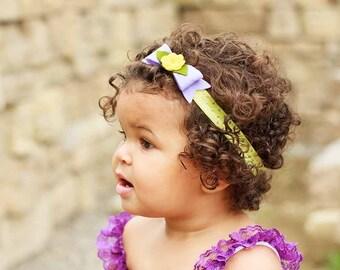 Lavender Felt Bow,Felt Bow Headband,Newborn Baby Girls Toddler,Lavender Yellow Felt Bow,Rose Headband,Lavender Hair Bow,Yellow Rose Headband