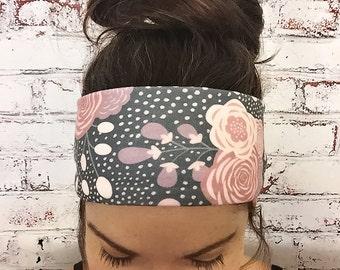 Yoga Headband - Gypsy Rose - Floral Headband - Eco Friendly