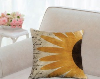 Country Designer Sunflower Pillow