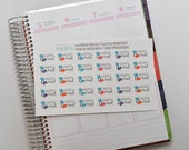 Happy Mail Stickers, set of 30 Planner Stickers, Mail Stickers, Erin Condren Planner Stickers, Happy Planner Stickers  READYTOSHIP  ST-064