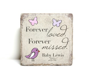 Infant Loss Memorial Stone. PERSONALIZED Gift. 6x6 Tumbled (Concrete) Paver. Baby Remembrance Stone. Pregnancy Loss. Infant Miscarraige Gift
