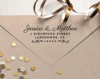 "Return Address Stamp, Rubber Address Stamp. Housewarming Gift, Wedding Gift. Self Inking, Wood Block, or Cling Custom Stamp 3"" x 1"" - A29"