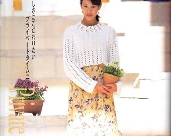 Vintage Japanese Craft Book, Crochet Pattern, Knit Blouse Pattern, Spring Knitting, Summer Knitting Pattern