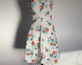 1970s Floral Cotton Sundress