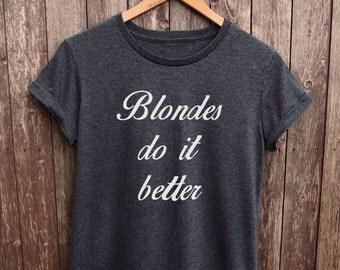 Blonde Shirt Womens - gifts for her, hairdresser tshirt, hairdresser shirts, blonde tshirt, hen party top, girlfriend tshirt, blonde girl