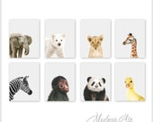 Baby Animal Nursery Art, Nursery Prints, Zoo Nursery Wall Art, Baby Wall Art, Gender Neutral Nursery Decor, Baby Girl Baby Boy, Gift