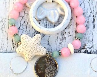 Bahama Coin STARFISH BRACELET, Beach BraCelet, Ocean JeWelry,  Starfish JEwelry, Stretch BrAcelet