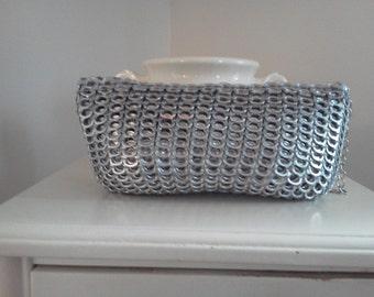 silver pop tab clutch