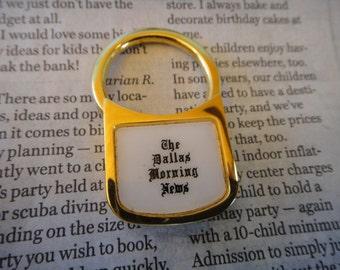 Vintage The Dallas Morning News Vintage keychain Key Rings Key holder