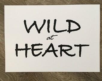 Wild at Heart A4 Print