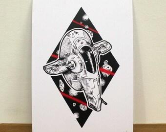 Star Wars Slave 1 Print (A5)