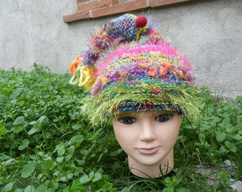 Bonnet lutin hippie bohème laine filé main et du commerce