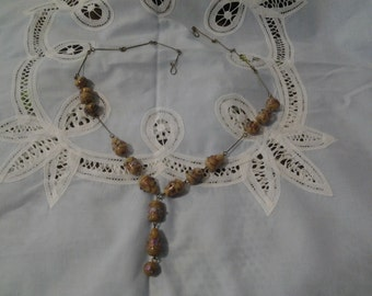 Vintage wedding cake Murano necklace
