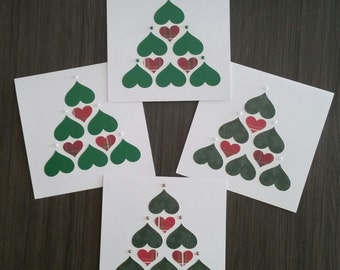 Hearts and Christmas Cards (Set of 2)