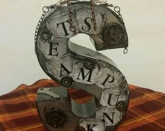 Metal Decorative Steampunk Letter S
