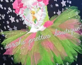 Tinkerbell inspired  /fairy tutu dress