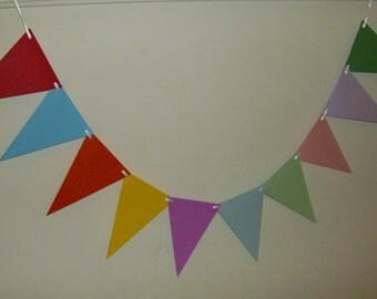 Colored Pennants banner, Pennants Banner, Birthday Pennants, Party Decoration, Baby, Bridal Shower