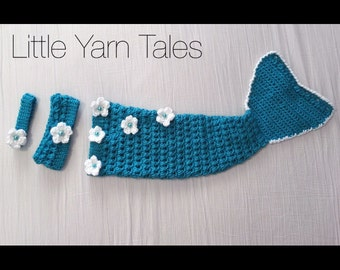 3 Piece Mermaid Photography Prop: 0-3 Months