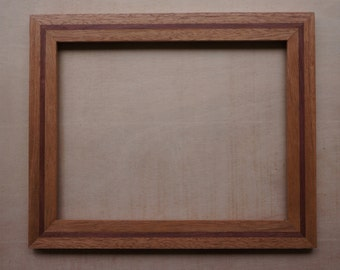 """Wooden Frame Mahogany and Purpleheart for 8 by 10"""" image"""