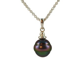 Oceana II, genuine Tahitian Pearl Necklace Pearl Necklace