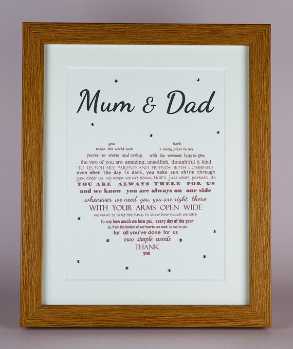 ... Wedding gifts for parents, Wedding gift for Mom, Wedding Gift for Dad