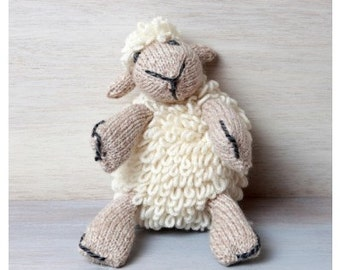 Irish Wool Knitted Aran Handknit Teddy