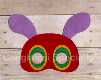 Starving Hungry Caterpillar Inspired Mask/Child/Adult/Costume/Cosplay/Christmas/Party Favor/Halloween/Gift/Photo Booth/Birthday/Party
