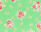 Flower Sugar Green Small Bouquets fabric from Lecien