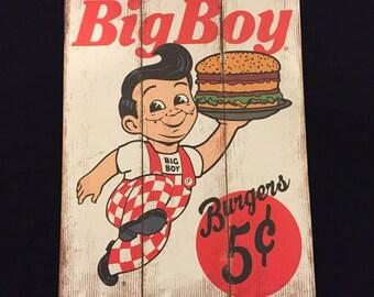 Bob's Big Boy Restaurant  Frisch's Shoney's Rare Vintage Sign