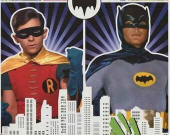 Batman and Robin Adam West Burt Ward Classic TV Show Poster