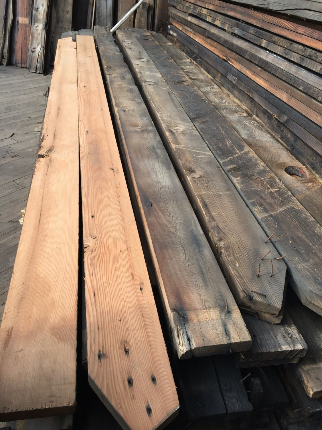 500 linear feet of reclaimed douglas fir 2x8 lumber planks for Reclaimed wood decking