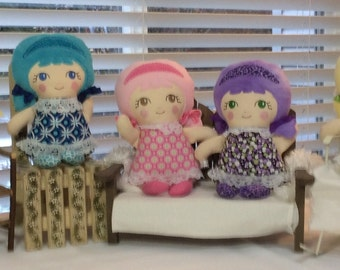 Home Made Cloth Dolls - Ready To Ship