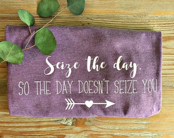 Epilepsy Awareness T-Shirt // Adult Shirt // Seize The Day, So The Day Doesn't Seize You // Custom Tee