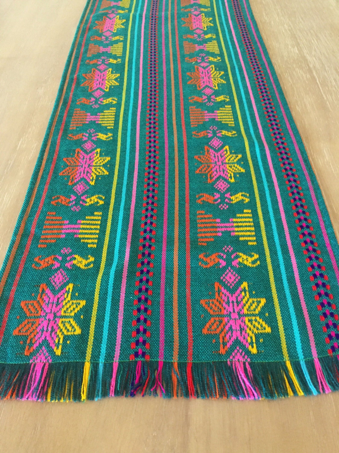 Mexican table runner custom placemats woven napkins or
