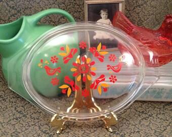 Vintage Pyrex Friendship Clear Casserole Dish Lid