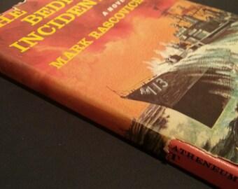 Mapped hollow book vintage stash box