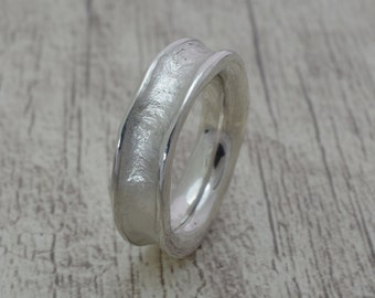 Band ring, wedding ring, friendship ring, engagement ring in 925 sterling silver