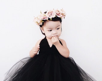 The Black Orchid - black tutu dress