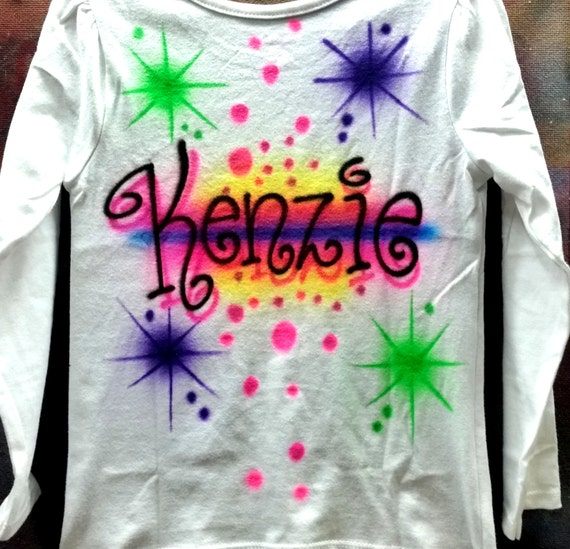 Personalized Teen Gift Airbrush Shirt Any Name By