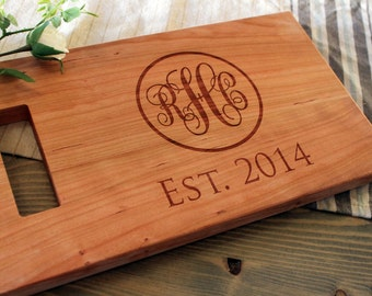 Family Name Engraved Cutting Board Established By Rchgifts