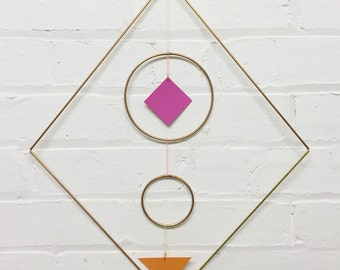 Square Geometric Copper & Paper Wall Hanging