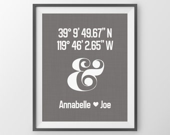 Valentines Day Gift For Her Anniversary Gift Personalized Gift For Husband Wife Gift For Wife Husband Gift For Her Ampersand Fiance Gift