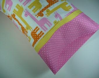 Toddler Pillow, Travel Size Pillow, Small Pillow, Travel Size Pillow, Child's Pillow, Zoo Animals, Polka Dots, Giraffe