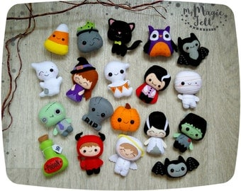Halloween ornaments Cute Halloween ornament felt Halloween favors skary felt toys Halloween decorations party favor Scary Halloween gifts