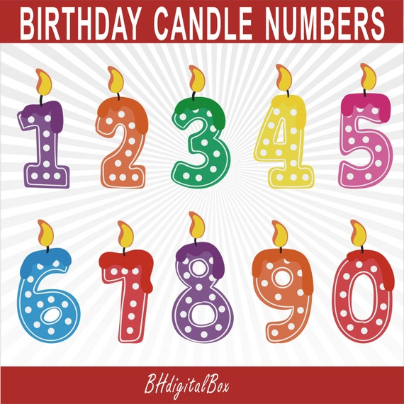 Birthday Candle Clipart, Birthday Clipart, Candles Clip ...