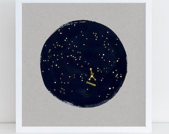 Constellation Birthday Art Print, Zodiac, Horoscope Astrology Starsign Print