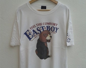 20% HOT SUMMER SALE Vintage 90s EastBoy For Men Big Graphic Classic American T-Shirt