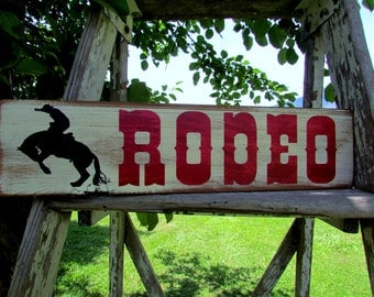 Barn Wood Rodeo Sign, Farmhouse Rodeo Sign, Rustic Country Sign, Cottage Decor