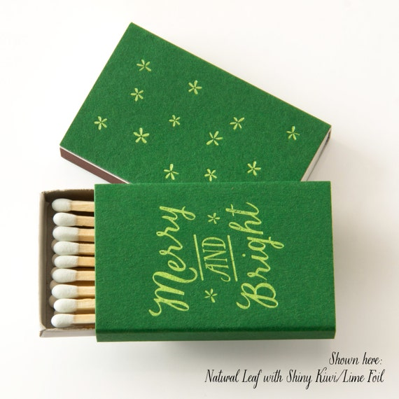 MERRY AND BRIGHT Matchboxes Photo Courtesy of PicturePerfectPapier